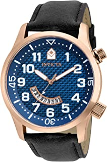 Invicta Specialty Men 48mm Stainless Steel Rose Gold Blue dial PC32 Quartz, 30821