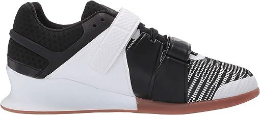 White/Black/Reebok Rubber Gum