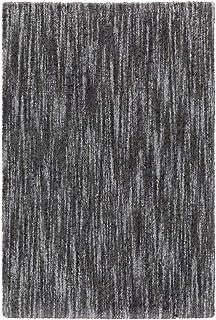 "Moretti Glyph Area Rug 829K9 Shag Charcoal Faded Shaded 9' 10"" x 12' 10"" Rectangle"