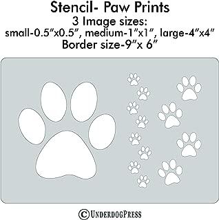 XL Stencil- Paw Prints