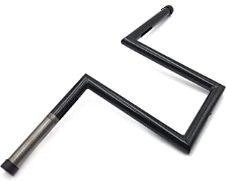 XKH- Black Handlebar Made With High-strength 25mm 1 Diameter Steel Tubing Compatible with Most Harley Models or Custom Applications - Drilled Compatible with Internal Wiring [B01MA1U72F]