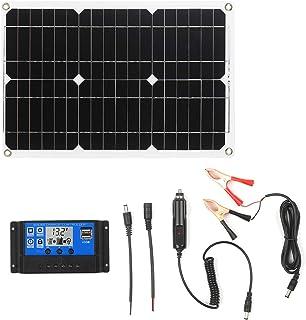rosemaryrose Solar Charge Controller,MPPT 10A//20A//30A//40A//50A//100A Auto Solar Charge Controller LCD Dual USB Solar Panel Regulator