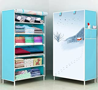 Pyxbe Fancy and Portable Foldable Collapsible Closet/Cabinet Collapsible Wardrobe Organizer, Multipurpose Storage Rack for...