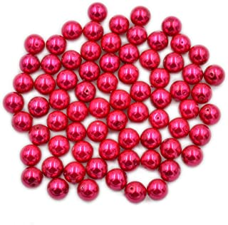 AD Beads Top Quality Czech Glass Pearl Round Loose Beads 3mm 4mm 6mm 8mm 10mm 12mm (3mm (200 Pcs), Rose)