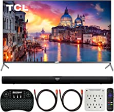 $975 » TCL 65R625 65-inch 6-Series 4K QLED UHD HDR Roku R625 Smart TV (2019) Bundle with TCL Alto 7 Home Theater Sound Bar, 2X Deco Gear HDMI Cable, Deco Gear Wireless Keyboard and 6-Outlet Surge Adapter