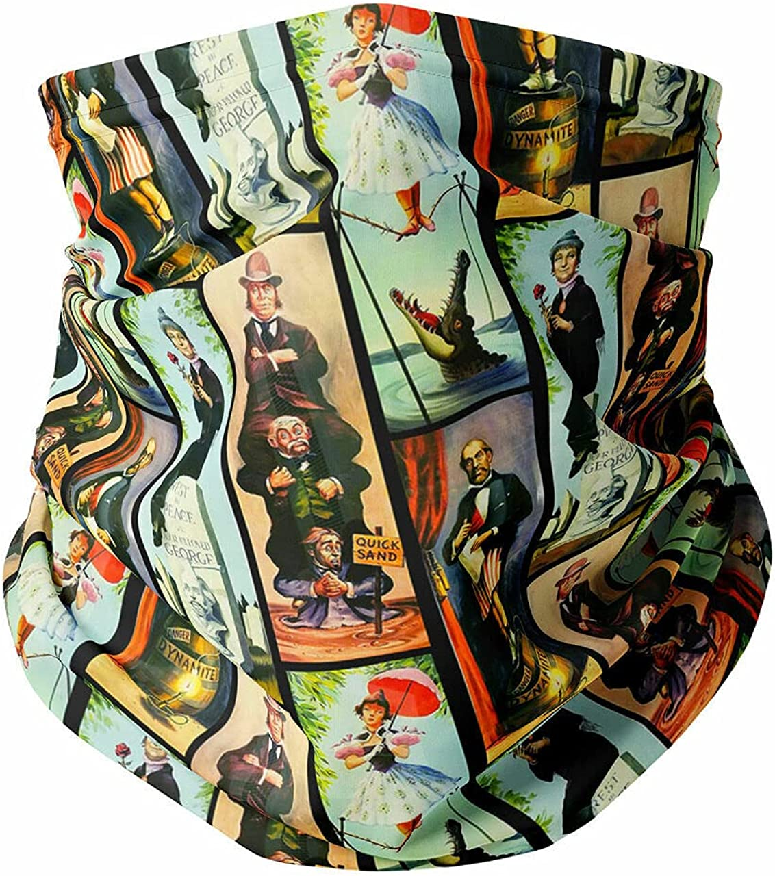 Neck Gaiter Face Covering - Haunted Mansion Stretch Paintings