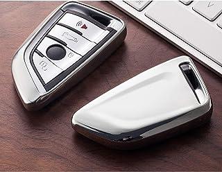 ل BMW 320li 523li 525li 528li 530 X1 X2 X5 F15 F16 G30 G11 F48 F39، حقيبة مفاتيح سيارة عن بعد قذيفة سلسلة مفاتيح السيارة م...