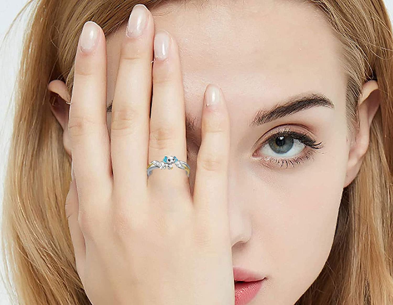 BFJLIFE 2021 Rings for Women Teen Girls Personalized Fashion Statement Rings Diamond Microinlaid Metal Jewelry Gift for Friends Family