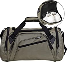 SIYUAN Sports Duffel Bag Water Resistant Athletic Gym Bag with Shoe Compartment S/M/L