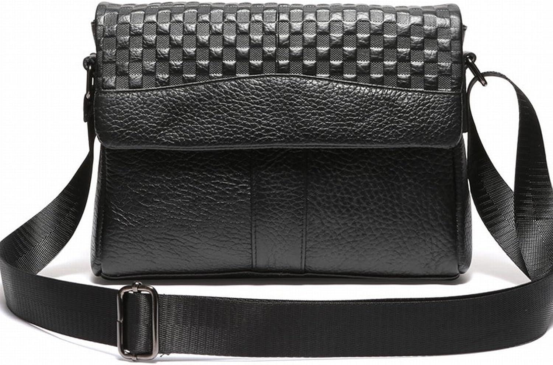 Männliche Business-Casual Schultertasche Messenger Bag Leder Plaid Aktentasche , , , schwarz B077KVV1PT 53cfdc