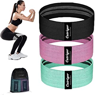 Resistance Bands for Legs and Butt, Fabric Exercise Band for Hips and Glutes, 3 Levels Non-Slip Hip Workout Booty Loops fo...