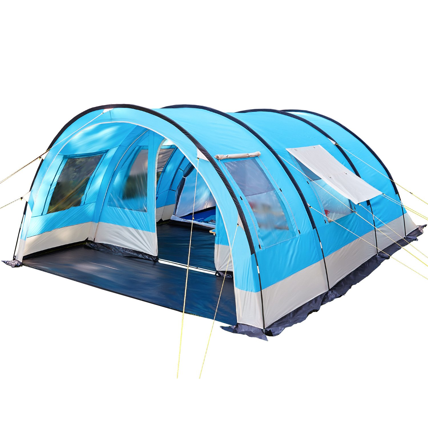 Skandika Kemi family Tunnel Tent with Moveable Front Wall, 2