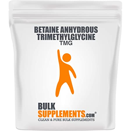 BulkSupplements.com Betaine Anhydrous Trimethylglycine (TMG) Powder - Gallbladder Supplements (1 Kilogram - 2.2 lbs)
