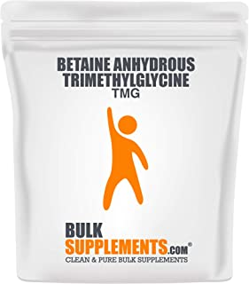 BulkSupplements Betaine Anhydrous Trimethylglycine (TMG) Powder (100 Grams)