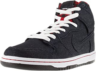 Dunk HIGH Premium SB Mens Skateboarding-Shoes 313171-441_9.5 - Dark Obsidian/White/Gym RED/Dark Obsidian