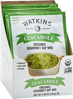 Watkins Organic Gourmet Dip Mix, Guacamole, 0.63 oz. Packets, 12-Pack