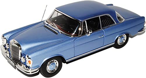 Norev Mercedes-Benz S-Klasse 280SE SEB SEC Coupe Blau W111 1965-1972 1 18 Modell Auto mit individiuellem Wunschkennzeichen