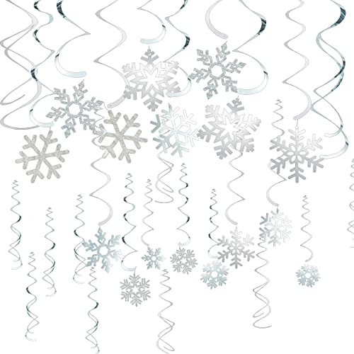 winter wonderland party decorations amazon Makeup Parties at Home juvale 30 pack of snowflake party decorations hanging christmas whirl decorations festive decorfor