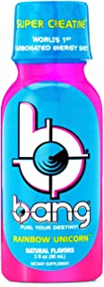 VPX (Vital Pharmaceuticals) BANG SHOT Rainbow Unicorn, Carbonated Energy Shot, 3 fl oz. (12 Drinks)