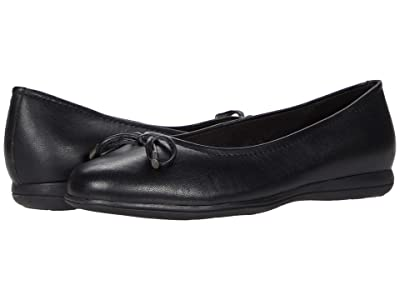 Trotters Dellis (Black Leather) Women