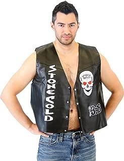 WWE Stone Cold Steve Austin 3:16 Smoking Skull Costume Leather Vest
