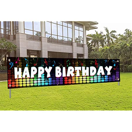 Large Colorful Boys Girls Happy Birthday Banner 9.8 x 1.6ft Its My Birthday Backdrop Party Indoor Outdoor Car Decorations Supplies Kids Birthday Party Banner Decorations for Both Outdoor Indoor