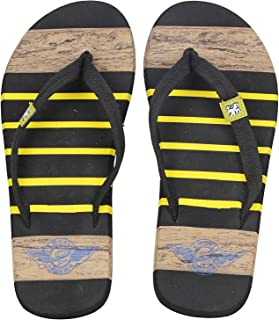 Emosis Men's Flip-Flop Slipper - Latest & Stylish Light Weight Rubber Material - for Casual Outdoor Daily Use Unisex - Multi-Color - 0270M