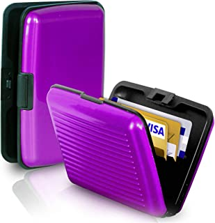 RFID Blocking Anti Scan Aluminium Security Wallet Card Holder Hard Case for Credit Debit ID UK EU Driving License Oyster T...