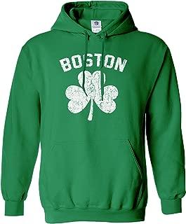 Threadrock Men's Boston Shamrock Irish Pride Hoodie Sweatshirt