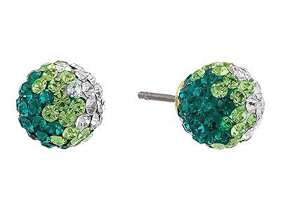 Kate Spade New York Brilliant Statements Mini Studs Earrings (Green Multi) Earring