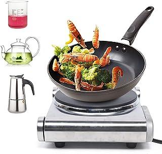 Plaque de cuisson individuelle 1500 W, fabriquée en Allemagne, contrôle de puissance, protection contre la surchauffe, aci...