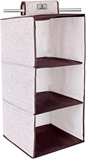 Yellow Weaves™ Hanging 3 Shelf Wardrobe Organizer