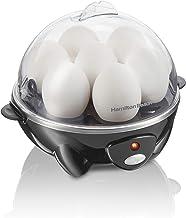 Hamilton Beach 3-in-1 Electric Hard Boiled Egg Cooker, Poacher & Omelet Maker, Holds 7, Black (25507)