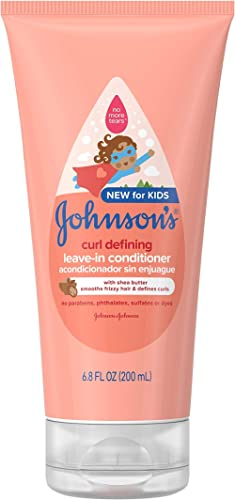 Johnson's Curl Defining Tear-Free Kids' Leave-in Conditioner with Shea Butter, Paraben-, Sulfate- & Dye-Free Formula,...