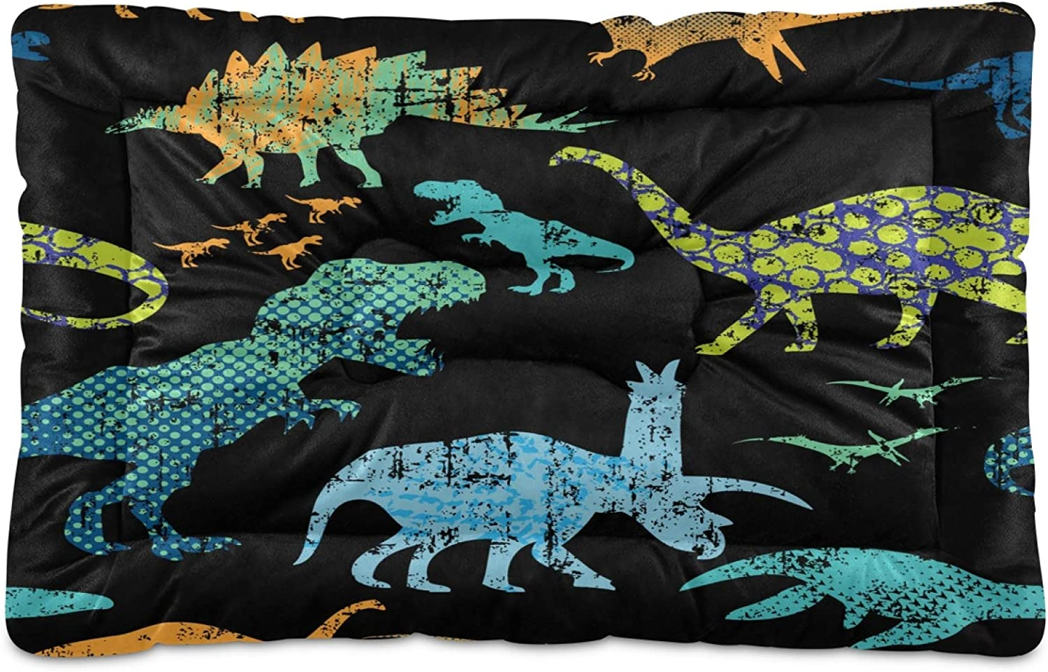 KEEPREAL Dinosaur Pattern Dog Max 70% OFF Attention brand Rectangle Cat Bed Comfortable