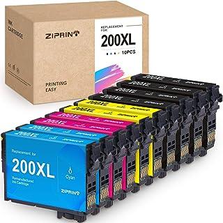 ZIPRINT Remanufactured Ink Cartridge Replacement for Epson 200 XL 200XL T200XL Ink for XP-410 XP-400 XP-310 XP-300 XP-200 WF-2540 WF-2530 WF-2520 (4 Black, 2 Cyan, 2 Magenta, 2 Yellow, 10-Pack)