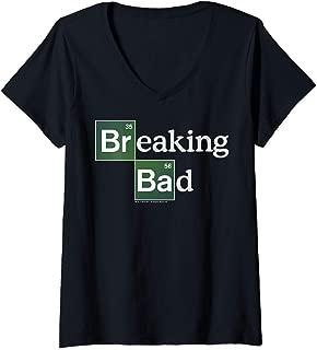 Womens Breaking Bad Periodic Square Logo V-Neck T-Shirt