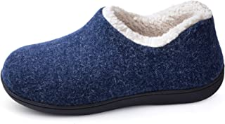 ULTRAIDEAS Women's Cozy Memory Foam Closed Back Slippers with Warm Fleece Lining, Wool-Like Blend Cotton House Shoes with ...