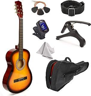 """گیتار چوبی 38 """"Sunburst همراه با کیف و لوازم جانبی برای کودکان / پسران / دختران / نوجوانان / مبتدیان"""