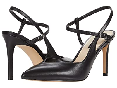Nine West Elisa (Black Leather) Women