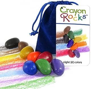 Crayon Rocks 8 Colors in a Blue Velvet Bag