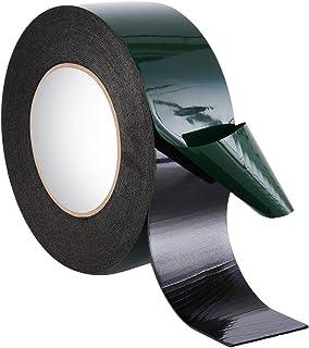 10 m (50 mm) Cinta de Espuma de Doble Cara Cinta de Esponja Cinta Adhesiva Impermeable de Montaje Grado de Automotor Placa de Número Decoración de Coches, Negro