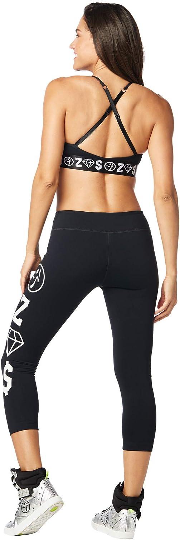 Zumba Dance Compression de Fitness Pantalon de Sport Femmes Faire des Exercices Sport Elastiques Imprimé Capri Legging Bold Black 5