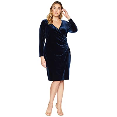 LAUREN Ralph Lauren Plus Size Torelana Dress (Nightfall) Women