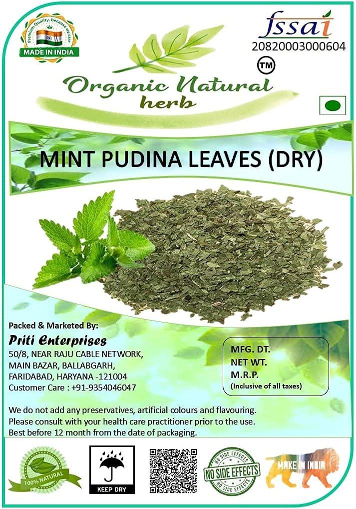 Carlos Organic Natural Herb Leaves पुठPudina 5 Super-cheap ☆ very popular Mint