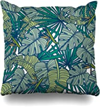 Ahawoso Decorative Throw Pillow Cover Square 16x16 Tropical Loving Maine Texture Print Cheese Rodeo Cheesy Waves Beautiful Beauty Funny in Fun Hero Asia Cushion Case Home Decor Zippered Pillowcase