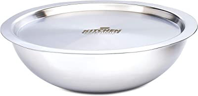 Kitchen Essentials Triply Stainless Steel Induction Bottom Tasla with Stainless Steel Lid, 2.6 LTR, 24 cm
