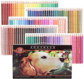 Set of 150 Watercolor Pencils with Unique Colors, Water Soluble Art Pencils for Adult Coloring Book Sketching Painting