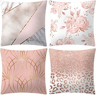 Rose Gold Pink Cushion Cover Square Pillowcase Home Decoratio