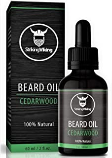Cedarwood Beard Oil (Large 2 oz) - 100% Natural Beard Conditioner with Organic Tea Tree, Argan and Jojoba Oil with Cedar P...